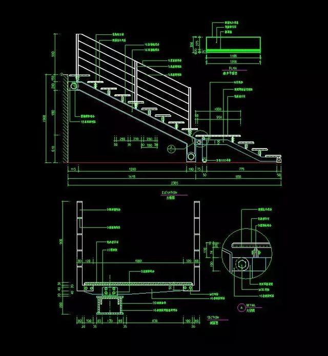 室内设计衣柜:120套资源详细CAD施工图+CA欧派楼梯cad图片