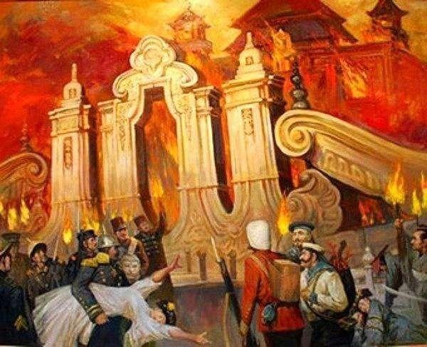 为什么八国联军要火烧圆明园,而不烧紫禁城?