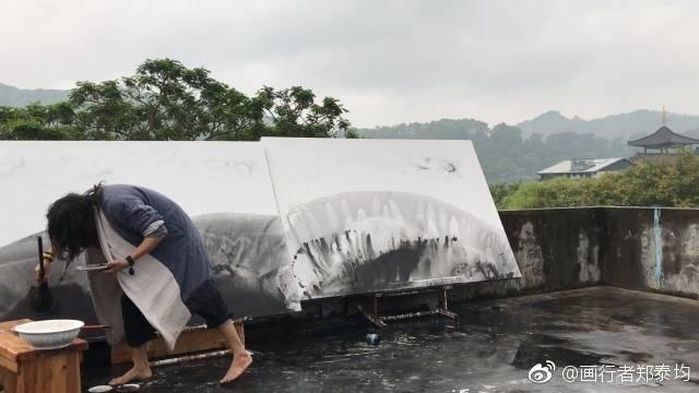 论中国现代国画宾馆的精神,情趣艺术大师著名和水墨艺术九尾狐图片