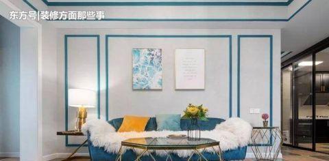 103㎡美式风格装修,她家如同蓝色的梦幻城堡一样美!