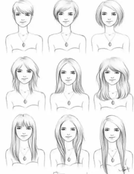 古代仙女简笔画头发