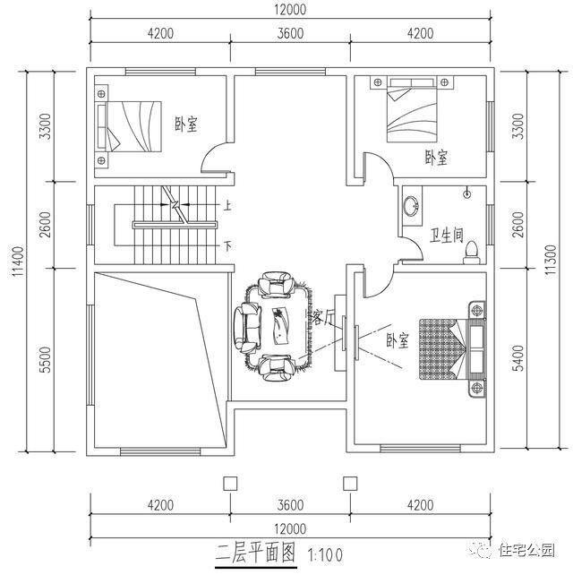 农村一屋4室1厅房屋设计图面积12x11米请先介绍一下你的情况:包括