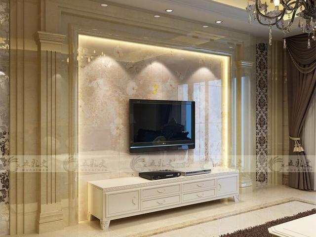 瓷砖电视背景墙,石材电视墙,一个提高房屋室内颜值的东西