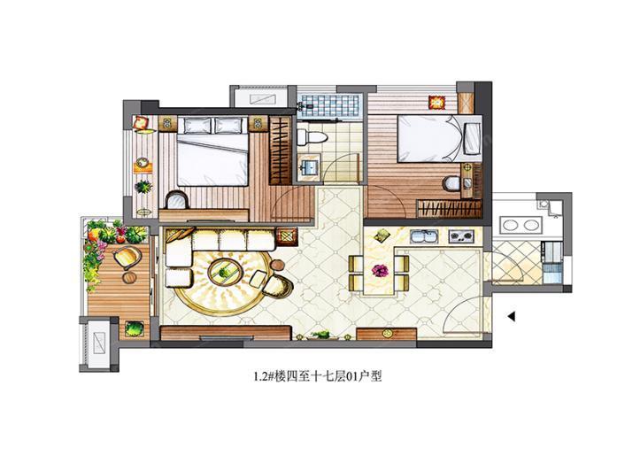漳州市65-108平方米户型约230万元/套起