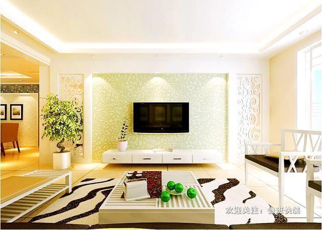 用硅藻泥做的时尚电视墙,体验不一样的立体效果