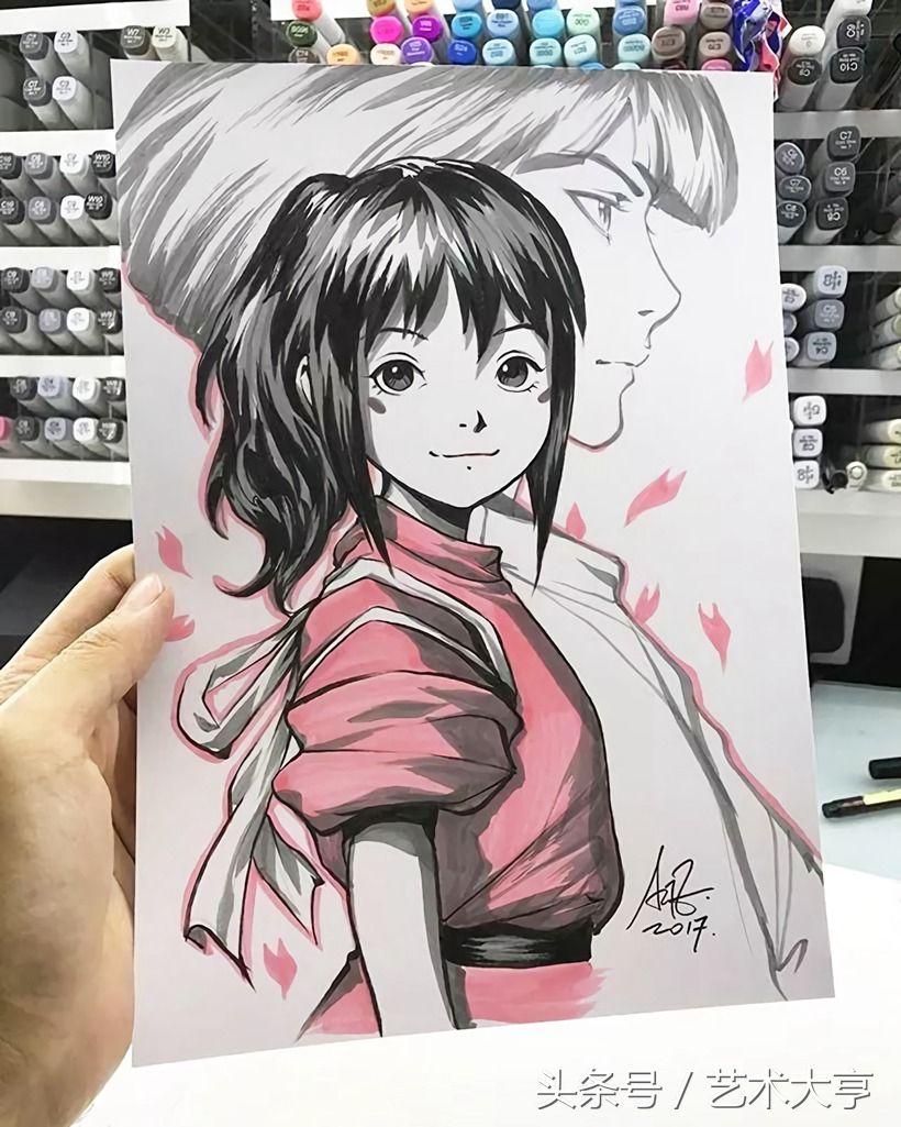 马克笔手绘动漫人物,出自新加坡华裔漫画大神@artgerm之手,线条流畅感