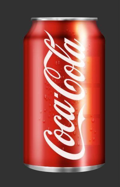 ps抠图软件,ps海报设计,photoshop绘制逼真的可口可乐易拉罐