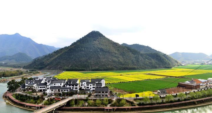 春天的阳光一照,大路村的油菜花开了,金灿灿一片.