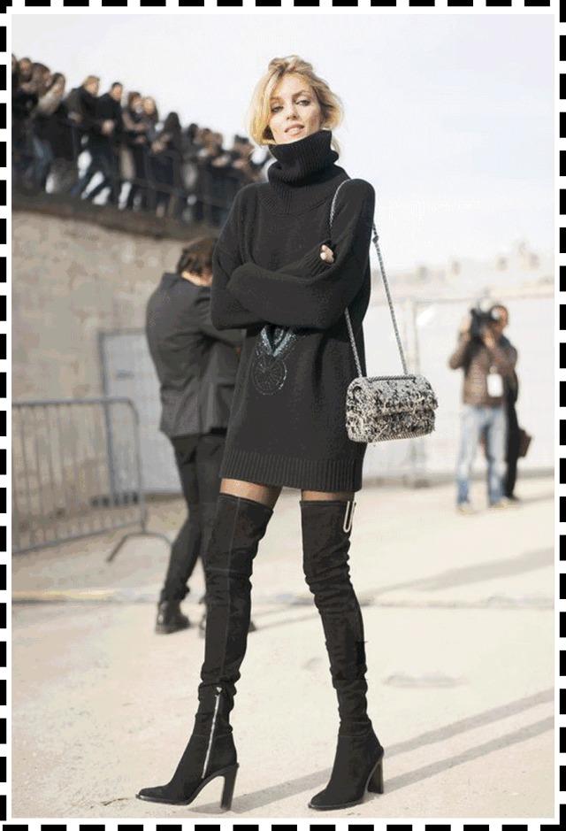 偷拍搭配:2019年穿衣新毛衣!情趣裙+过膝靴、流行趋势酒店健壮男图片