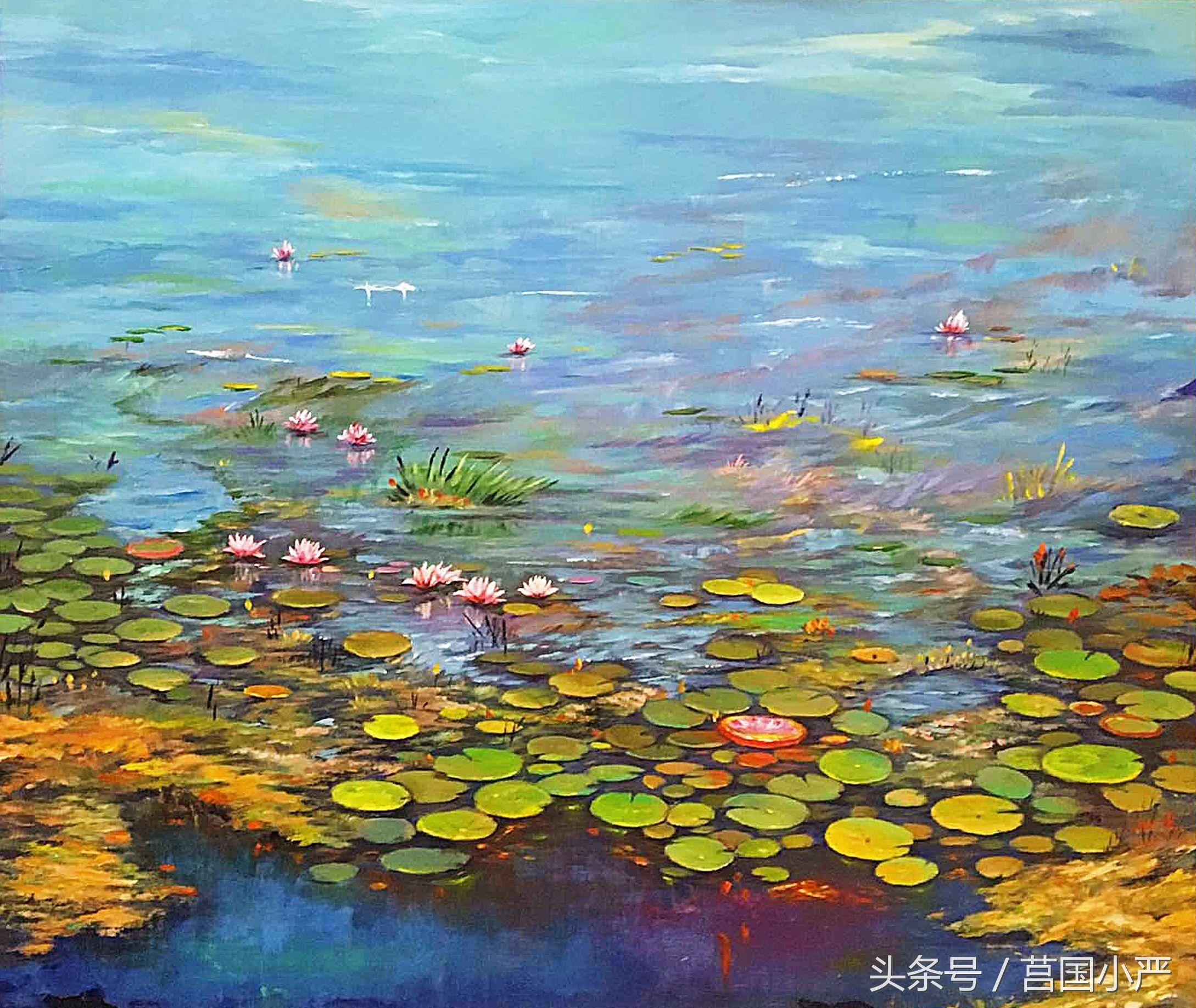 色彩鮮艷的油畫作品,帶你去看不一樣的世界,美極了!