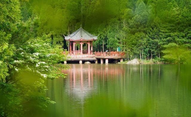 天曌山国家森林公园以其茂密的森林,优美的风景,清新的空气和悠久的