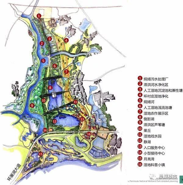 重磅| 关于《安徽巢湖半岛国家湿地公园修建性详细规划》的公示