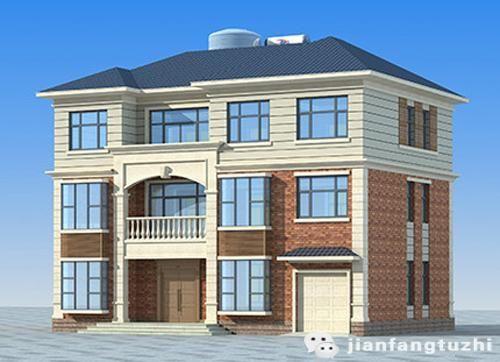 施工简单40万3厅9室带车库主卧套间三层农村自建房全套设计图