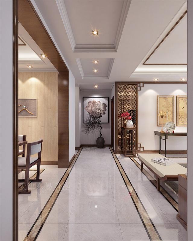 新中式住宅装修设计a住宅内敛中复古别样展示情趣用品平台哪个图片