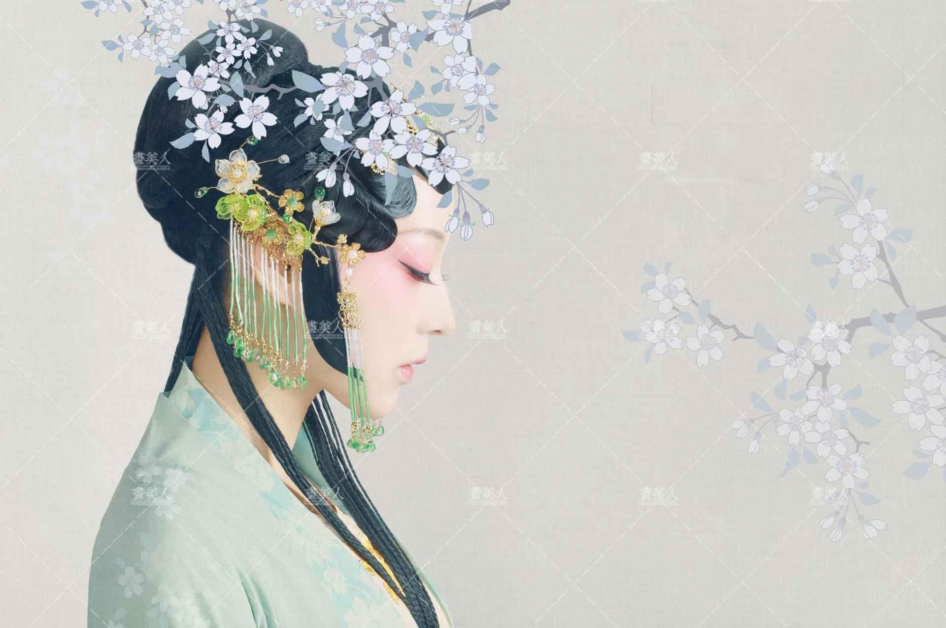 春风如画画美人 古装写真图片