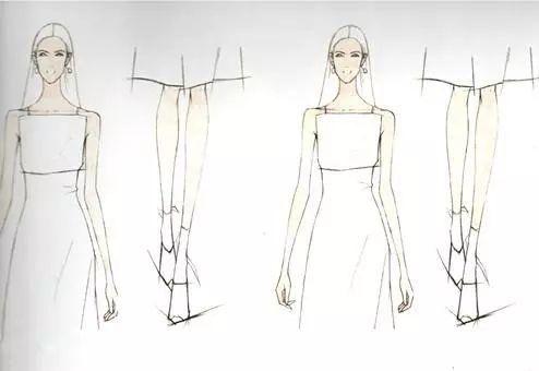 服装设计干货-水溶性彩铅的时装画表现