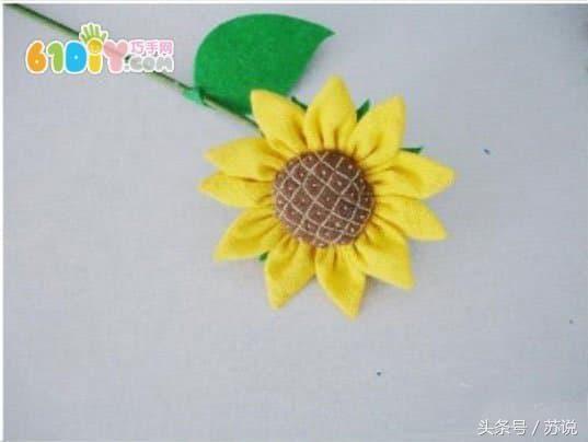 制作步骤 diy制作漂亮的布艺树叶装饰 母亲节diy制作不织布花朵方法