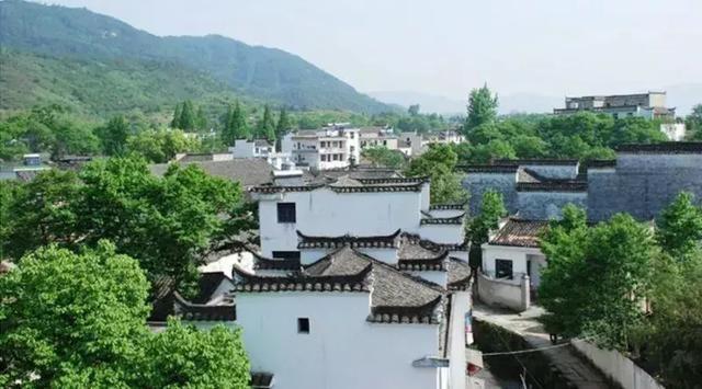安徽查济风景水彩