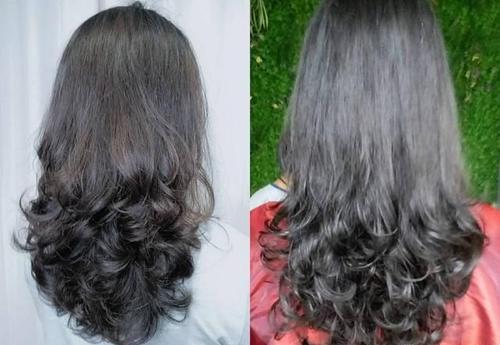 编发四五十岁长发a长发又有发型的中卷适合教学现场弹性烫发视频图片