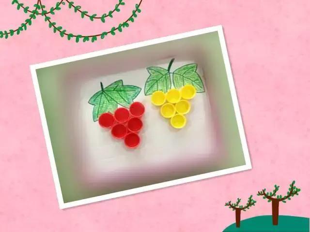 幼儿园手工卡纸做葡萄