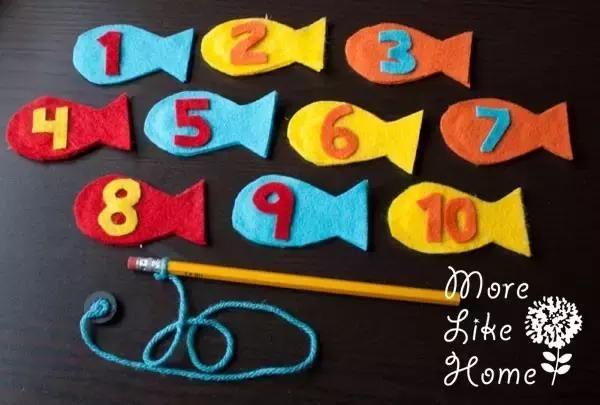幼儿园玩教具手工:不织布磁力钓小鱼,孩子这样学习更轻松!