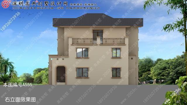 房产 正文  此别墅设计案例: a555号别墅设计图纸及效果图介绍: 占地