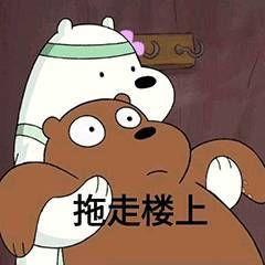表情|《熊熊三贱客》三只裸熊表情图片挠表情包鸡图片