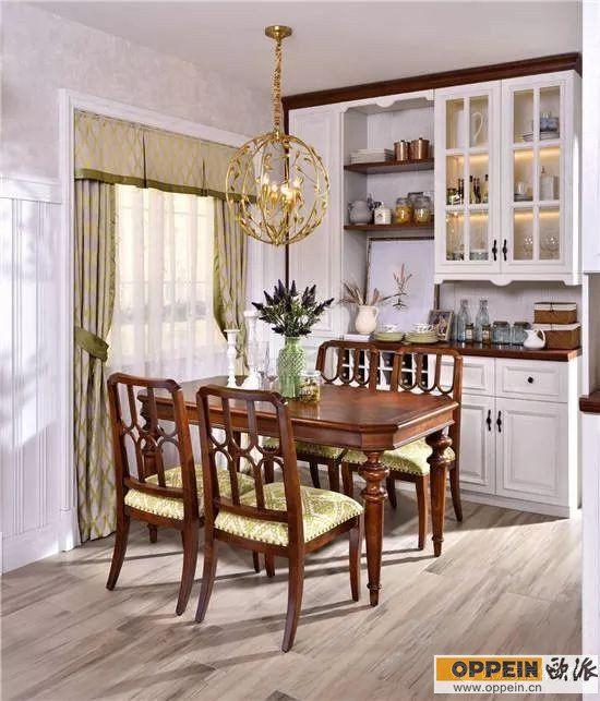 餐厅整面墙柜子装修效果图 新款餐边柜设计