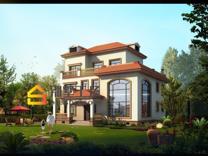 精选农村小别墅效果图,搭配庭院景观可以做民宿了