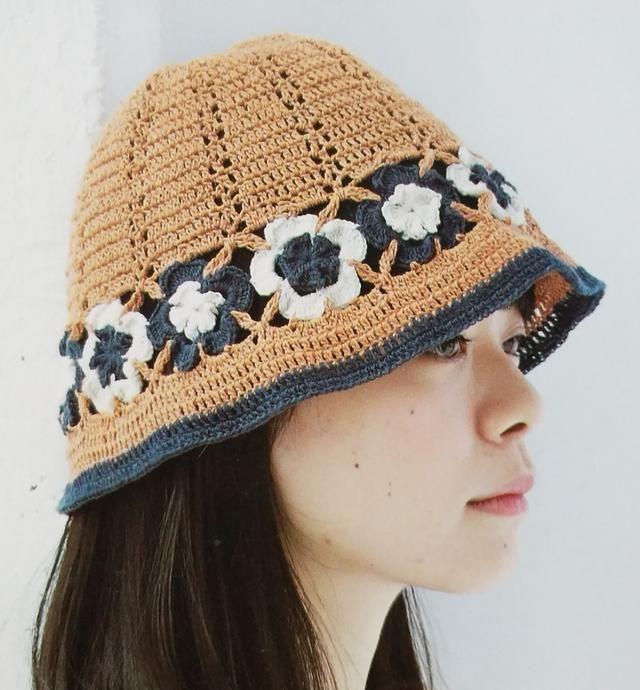 钩针编织花样钩织帽,美丽从头开始