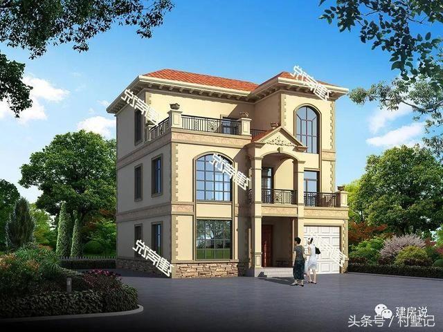 欧式风格的高贵气质和精雕细琢的工艺,散发着独一无二的魅力,也成为了富足生活的一种写意,成为了很多建房者的首选风格之一。 第1套:开间13.6米,进深15.0米,占地面积192.63平方米,建筑面积546.50平方米,砖混结构,主体参考造价62万左右  别墅外观气派华丽,内部布局十分人性化,全心全意为户主一家打造一个舒适温馨的居住环境。