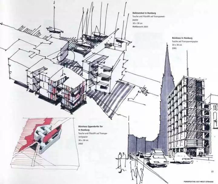 那么真正的设计草图是什么样的呢? 湖南本土建筑师杨瑛的草图.