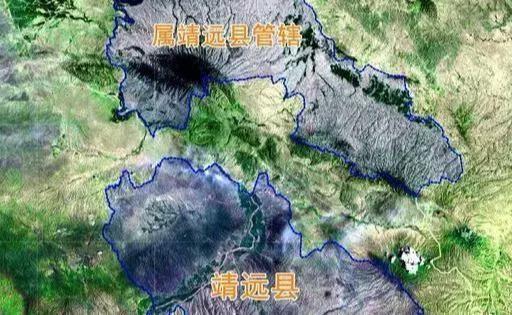 地图上的靖远县,为何被平川区分成两半?