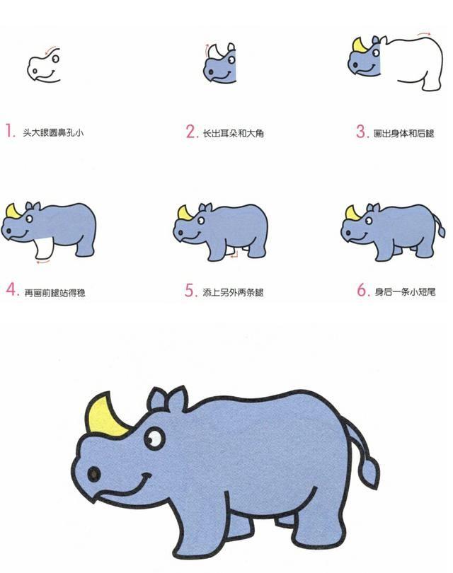 八种常见小动物简笔画教程分解,再也不用担心亲子绘画