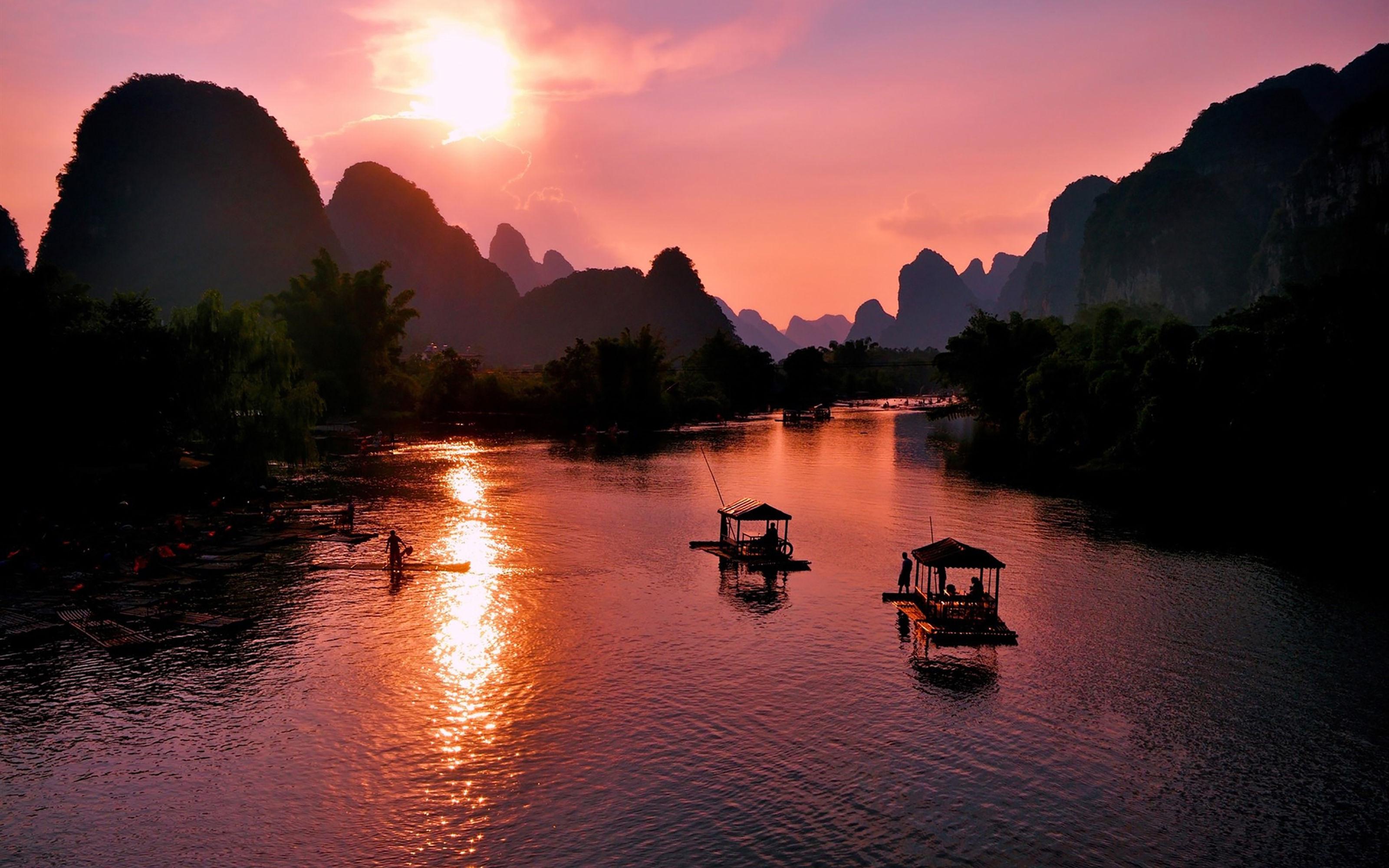 高清风景壁纸,山水:祖国的大好河山一览无余,让