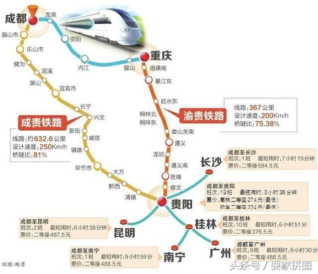 成贵铁路通车前,成都到贵阳广州昆明桂林长沙高铁全攻略