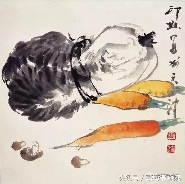 美醉儿童圈的画中朋友情趣古诗词古代蔬果图片